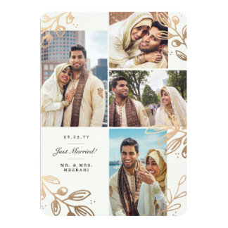 Gold Leaves 4 Wedding Announcement