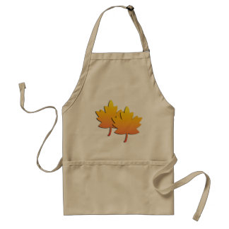 GOLD LEAVES ADULT APRON