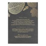 Gold Leaves Chalk Wedding Details - Information Card