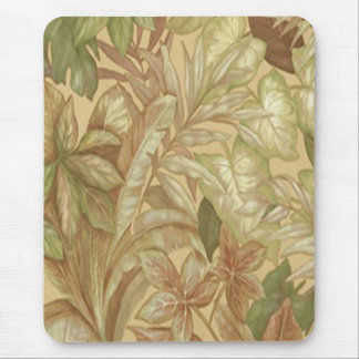 Gold Leaves Mouse Pad