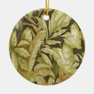 Gold Leaves On Black Ornament