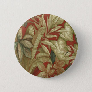 Gold Leaves On Red Button
