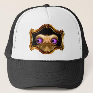 Gold Left Ostrich Trucker Hat