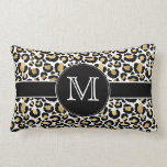 Gold Leopard Lumbar Pillow