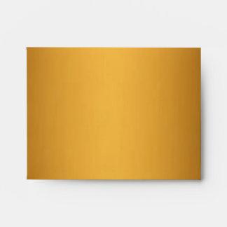 Gold Leopard Monogram Stripes NoteCard  Envelope