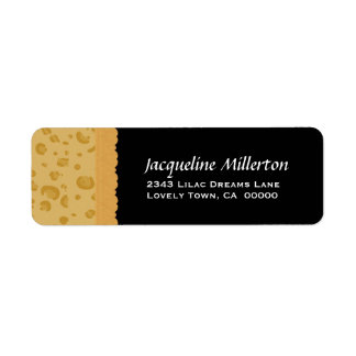 Gold Leopard Print and Lace Birthday Collection Label