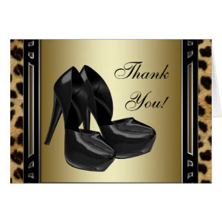 Gold Leopard Thank You Cards Note Card