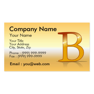 "gold letter ""B "" Business Card"