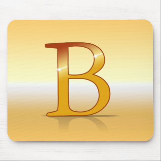 "gold letter ""B "" Mouse Pad"