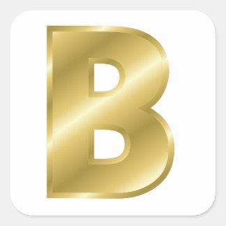 B Letter In Gold Monogram Gold Letter B...