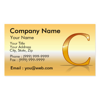 "gold letter ""C "" Business Card"