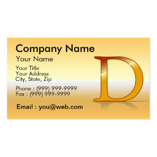 "gold letter ""D "" Business Card"