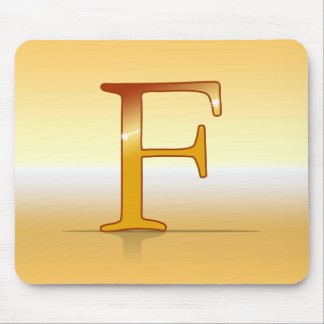 "gold letter ""F "" Mouse Pad"