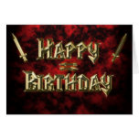 Gold letter font birthday card