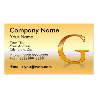 "gold letter ""G "" Business Card"