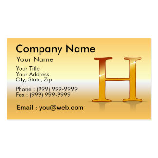 "gold letter ""H "" Business Card Templates"