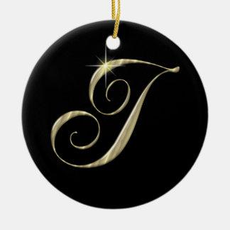 Gold Letter I Monogram Initial Ornament Fan Pull