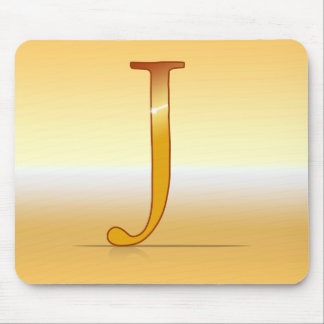 "gold letter ""J "" Mouse Pad"