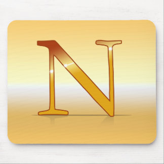 "gold letter ""NR "" Mouse Pad"
