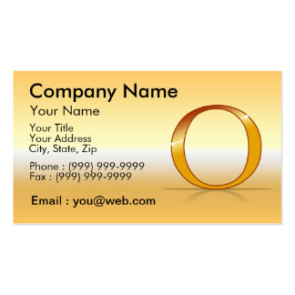 "gold letter ""O "" Business Card Templates"