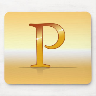 "gold letter ""P "" Mouse Pad"