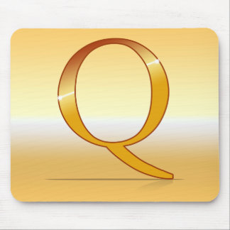 "gold letter ""Q "" Mouse Pad"