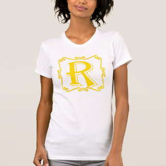 Gold Letter R T-shirts