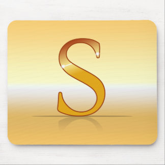 "gold letter ""S "" Mouse Pad"