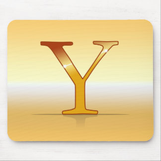 "gold letter ""Y "" Mouse Pad"