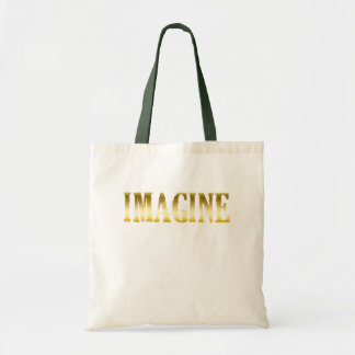 Gold Letters Imagine on T-shirts, Mugs, Gifts Tote Bag