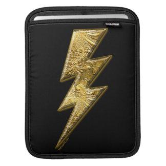 Gold Lightning Bolt iPad Sleeves