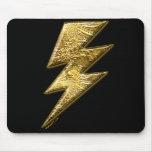 Gold Lightning Bolt Mousepad