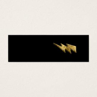 Gold Lightning Bolt Profile Card