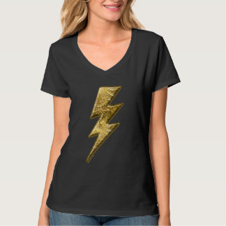 Gold Lightning Bolt Women's T-Shirt
