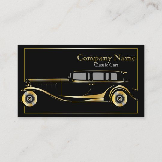 gold limo classic cars business card zazzle com