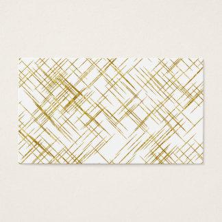 Gold Line Faux Foil Sequin Lines Background Design Business Card