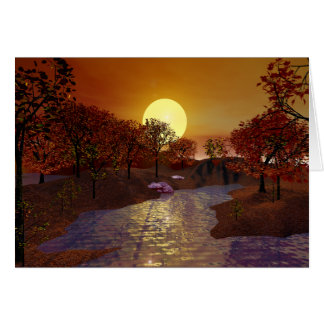 Gold Linger - Autumn Scene Card