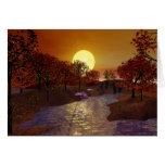 Gold Linger - Autumn Scene Greeting Card