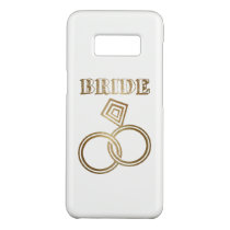 Gold Linked Rings Bride Wedding Case-Mate Samsung Galaxy S8 Case