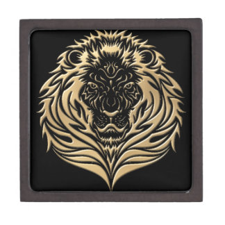 Gold Lion Black Gift Box