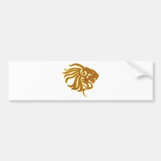 Gold Lion Bumper Sticker