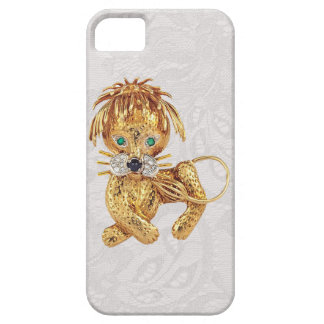 Gold Lion Jewel Photo Paisley Lace iPhone 5 Case