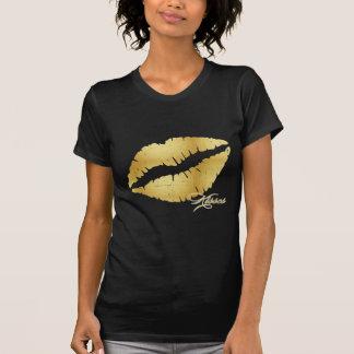 "Gold Lips ""Kisses"" T-Shirt"