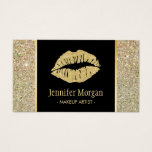 "Gold Lips Trendy Glitter Sparkles Makeup Artist Business Card<br><div class=""desc"">Make a great impression with this stylish &quot;Gold Lips Trendy Glitter Sparkles&quot; Business Card for your Beauty Salon. Create yours today! (1) For further customization, please click the &quot;Customize&quot; button and use our design tool to modify this template. All text style, colors, sizes can be modified to fit your needs....</div>"