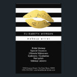 """Gold Lips with Black White Stripes - Makeup Artist Flyer<br><div class=""""desc"""">Gold Lips with Black White Stripes - Makeup Artist - Elegant and Unique Flyer Template. You can add additional information on the back. (1) For further customization, please click the &quot;customize further&quot; link and use our design tool to modify this template. (2) If you need help or matching items, please...</div>"""