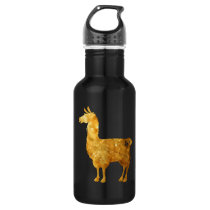 Gold Llama Water Bottle