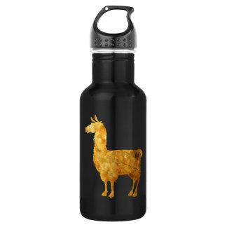 Gold Llama Water Bottle