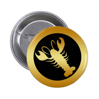 GOLD LOBSTER BUTTON
