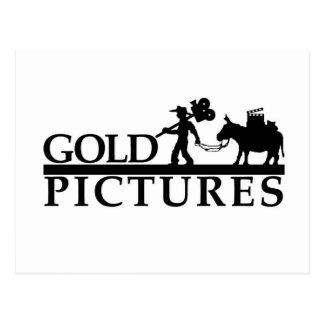 gold logo best new postcard