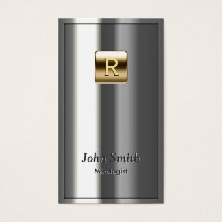 Gold Logo Metallic Mixologist Business Card